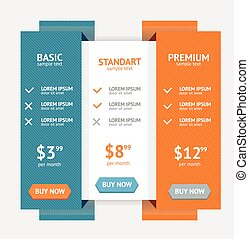 Pricing List. Vector - Pricing List For Applications And...