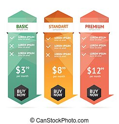 Pricing List. Vector - Pricing List. Editable Webdesign...