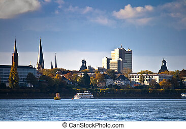 Skyline of Bonn, Germany - Former German capital city Bonn...