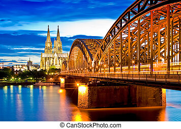 Cologne Cathedral - The cathedral in Cologne Germany at the...