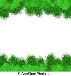 Merry Christmas background. - Detailed frame with fir....