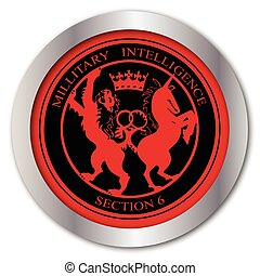 Mi6 Badge Button - A depiction of the Mi6 logo as a button...