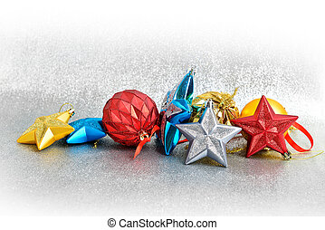Christmas decorations - Christmas tree decorations on a...
