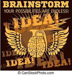 Idea - Brainstorm Brain Grenade - Idea - Brain distortion...