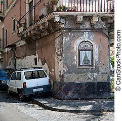 cristiano, Capilla, en, Catania,