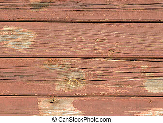 Surface of old painted wooden horizontal slats