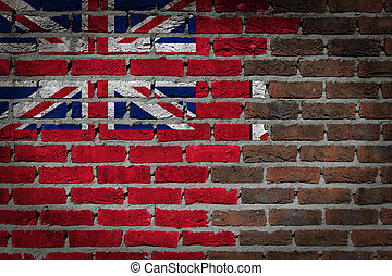Dark brick wall - Bermuda - Dark brick wall texture - flag...