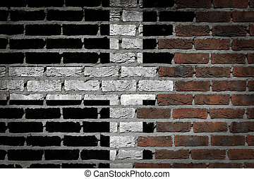 Dark brick wall - Cornwall - Dark brick wall texture - flag...