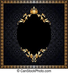 Royal background with frame