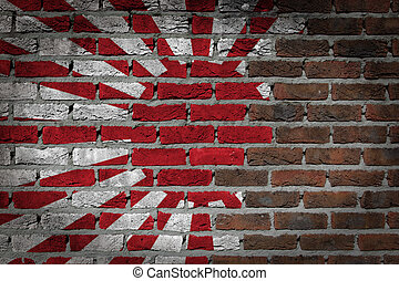 Dark brick wall - Japan - Dark brick wall texture - flag...