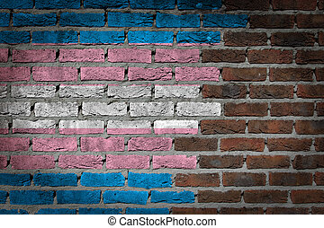 Dark brick wall - Trans Pride - Dark brick wall texture -...