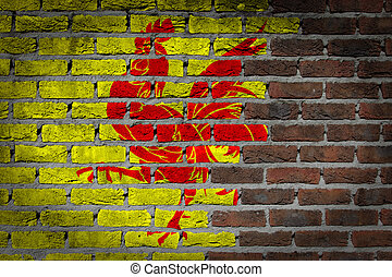 Dark brick wall - Wallonia - Dark brick wall texture - flag...