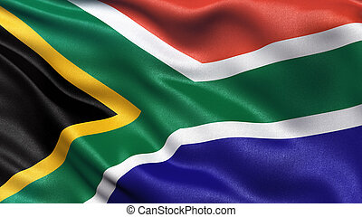 Flag of South Africa - Highly detailed flag of South Africa...