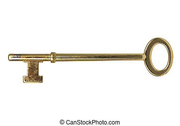 Skeleton key isolated on a white background with clipping...