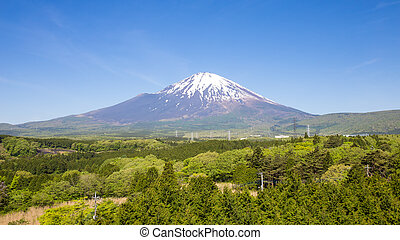 Panoramic of fuji mountain