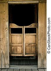 Saloon doors - Authentic saloon doors in historic western...