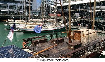 Yacht mooring Auckland waterfront - Yachts mooring at...