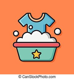Washing clothes Stock Illustrations. 5,328 Washing clothes ...