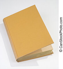 Blank old book cover yellow