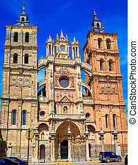 Astorga cathedral in Way of Saint James at Leon Castilla of...