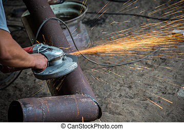 Locksmiths workshop Angle grinder