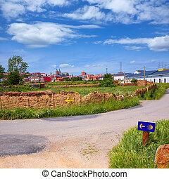 Saint James Way sign in Astorga Leon at Castilla of Spain