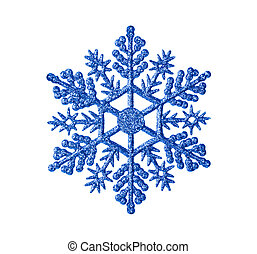 Toy snowflake - isolated on white background