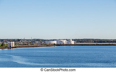 Industrial Area in Charlottetown - An industrial petroleum...