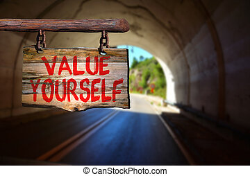 Value yourself sign