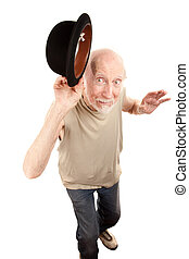 Crazy Dance Man with Bowler Hat