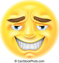 Smiling Emoji Emoticon - An emoji emoticon character smiling...
