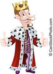 Cartoon King Character - Posh snooty looking cartoon king...