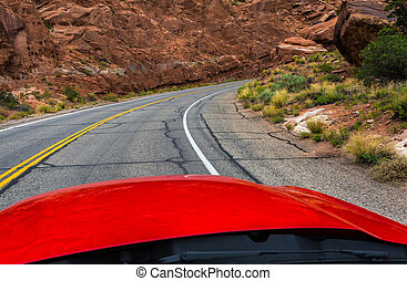 Arches National Park Onboard view - Arches National Park is...