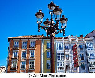 Burgos facades in Castilla Spain - Burgos building facades...