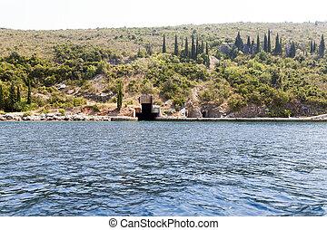 shelter Bay Montenegro - shelter for submarines Yugoslav...