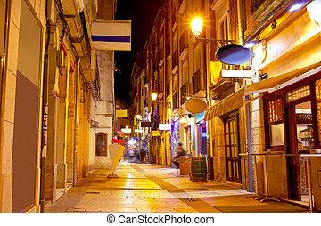 Burgos city at sunset in Castilla Spain