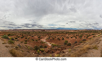 Arches National Park Panorama - Arches National Park is a US...