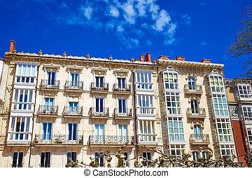 Burgos downtown buildings in Castilla Spain - Burgos...