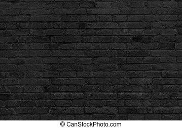 Black Brick Wall stock image of part of black painted brick wall - horizontal part