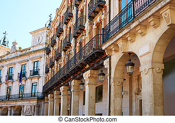 Burgos Plaza Mayor square arcades Castilla Spain - Burgos...