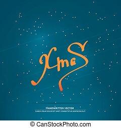 Christmas handwritten lettering - Xmas lettering....