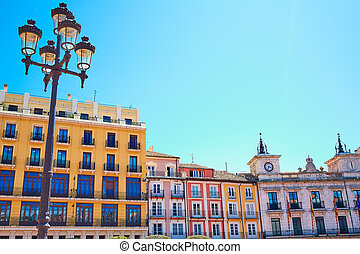 Burgos Plaza Mayor square in Castilla Spain - Burgos Plaza...