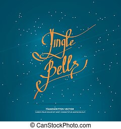 Christmas handwritten lettering - Jingle bells lettering....