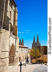 Burgos San Esteban church facade Castilla Spain - Burgos San...