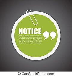 Notice quote note paper