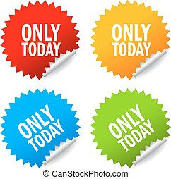 Only today, sale offer stickers