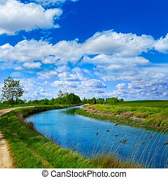 Canal de Castilla Channel by Saint James Way in Castilla...