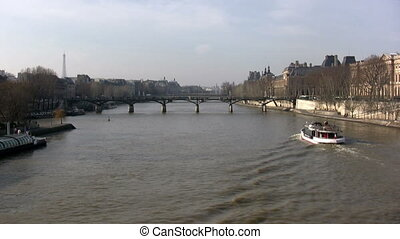 Seine River, Paris - View in a sunny day