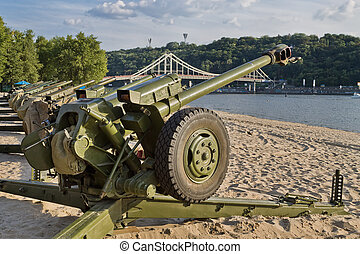 Cannon in Kiev - Cannon on the beach in Kiev to prepare for...