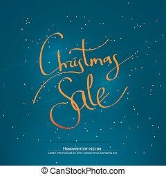 Christmas handwritten lettering - Christmas sale lettering....